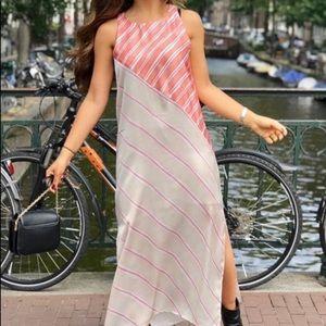 Zara dress sz small stripe midi